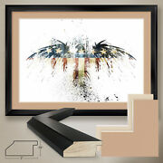 44wx32h Eagles Become By Alex Cherry - Double Matte, Glass And Frame