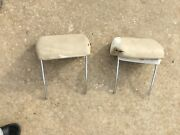 1969 – 1972 Pair Of Bucket Seat Headrests Chevelle Gto 442 Gs Oe Oem Pair