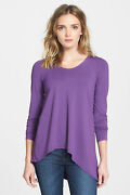 Sz S Eileen Fisher Rdlor Soft V Neck Stretch Viscose Jersey Top Nwt