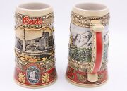 Limited Edition Adolph Coors Beer Steins - Brewing Site 1873