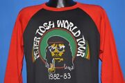 Vintage 80s Peter Tosh World Tour 1982 Reggae Wanted Dread Or Alive T-shirt L