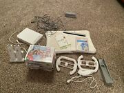 Nintendo Wii Console Stepper Aerobics Bundle +12 Games 2 Controllers And 2 Wheels