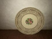 Set Of 4 Edwin M. Knowles Bread Plate And Set Of 7 Saucers - Set Of 11 Pieces