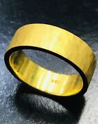 Real 24k 9999 Solid Yellow Gold Hammered Band Ring 6-7 Mm Size 5-12 15 Gram