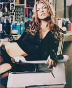 Fergie Duhamel Sexy Seated Pose In Low Cut Black Top 8x10 Photo