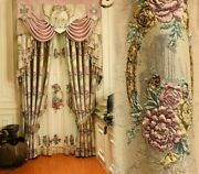 Embossed European Curtains Window Screen Elegant Home Decoration Cloth Voile New