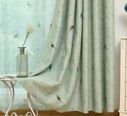 Thermal Insulated Curtain Blackout Sheer Floral Bird Patterned Window Screen New