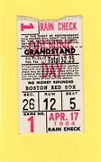 1964 Ticket Pass Tony Conigliaro First Hr Opening Day Boston Red Sox /jfk Game