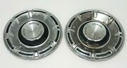 Ford Motor Company Vintage Chrome And Black Hubcaps - Lot Of 2 - 14 Inch Rally