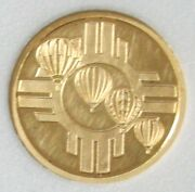 2004 Gold 1/4oz 100 Minted 33rd Albuquerque Intl Balloon Aibf 34 Artists Proof