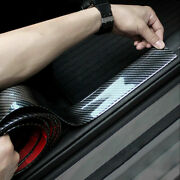 1m Accessories Car Stickers Carbon Fiber Door Sill Protector Scuff Plate Trim Us