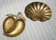 Old Brass Ash Trays Set Of Two