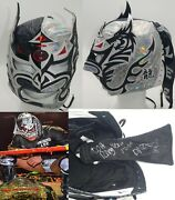Dragon Lee Signed Ring Worn Andused Mask Bas Coa New Japan Pro Wrestling Roh Cmll