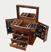 Retro Jewelry Box Wooden Collection Storage Makeup Cosmetic Accessories Case New