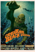 Creature From The Black Lagoon By Stan And Vince - Regular - Sold Out Mondo Print