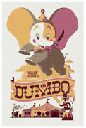 Dumbo By Tom Whalen - Sideshow - Rare Sold Out Mondo Print
