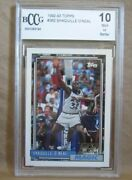 Shaquille O'neal Rc 1992-1993 Topps Rookie Card362 Bccg10magic Rc C Hof Goat-2
