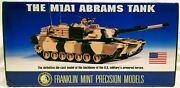 Franklin Mint 1/24 Scale The M1a1 Abrams Tank Diecast Brand New In Box