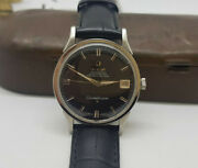 Vintage 1962 Omega Constellation Black Dial Date Cal561 Auto Manand039s Watch