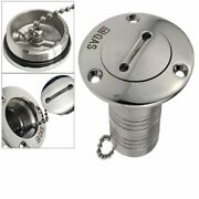 50mm Marine Stainless Steel Boat Deck Fill/ Filler Port Gas Tank With Key Cap