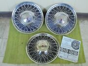 Nos Vintage Lyon Accessory Hubcaps 15 Set 3 Wheel Covers 1950and039s 1960and039s Hot Rod