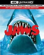 Jaws 45th Anniversary Limited Edition [new 4k Uhd Blu-ray] Ltd Ed With Book