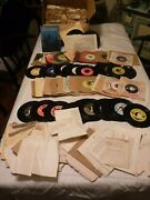 Lot Of 265+ Used 45 Rpm Square Dance Records W Call Sheets Many Labels Country +