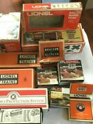 Lionel Empty Box Lot Of 13, 6-2283, 152, Diesel Horn Shed, 6-2154, 6-16534