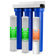 Ispring Wcb32o Whole House 3-stage Water Filter System 20x2.5