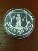 United States Air National Guard 1 Troy Oz .999 Fine Silver Round Engravable