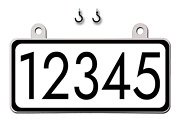 Curb-n-sign®, Hanging House Mailbox Address Numbers Sign, Rectangle, Reflective