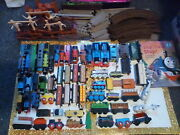 Vintage Thomas The Train And Friends Magnetic And Wooden Christmas Gold Old Lot