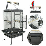 Bird Pet Cage 68 Large Play Top Parrot Finch Cage Macaw Cockatoo 3 Doors