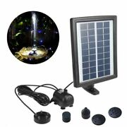 Solar Water Pump Submersible For Patio Pond Pool Spout Garden Fountain Accessory