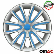 14 Inch Hubcaps Wheel Rim Cover Gray With Blue Insert 4pcs For Nissan Sentra