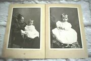 Antique Cabinet Card Photo Little Boy In Gown And Mother N.b. Lawson Muskegon, Mi
