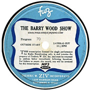 Barry Wood Show 11 Shows Old Time Radio Mp3 Cd