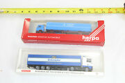 Wiking And Herpa - Lot Of 2 German Truck And Trailer Sets - 1/87