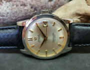 Rare 1960 Omega Calendar Silver Dial Cal503 Date Automatic Manand039s Watch