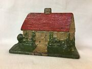 Albany Foundry Cast Iron Cape Cod House Cottage Doorstop Vivid Color