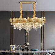Crystal Led Chandelier Lights Ceiling Fixtures Dining Area Home Decoration Lamps