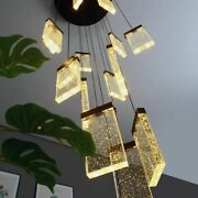 Staircase Hanging Chandeliers Lights Ceiling Fixtures Crystal Home Elegant Lamps