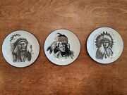 3 X Small Plates, Indian Chiefs Gregory Perillo's Studies In B/w Artaffects Club