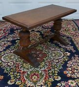 Rustic Antique Oak French Coffee Table Library / Monastery Style Table