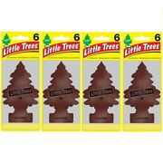 Little Trees 6and039s Leather Pack Of 24