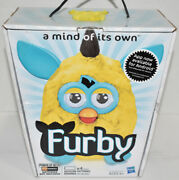 2012 Hasbro Electronic Furby Yellow Teal Interactive Talking Toy Brand New Tiger