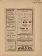 Play With Fire Play Cast - Show Bill Signed Circa 1941 With Co-signers