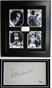 Muhammad Ali Signed Autographed 3x5 Inch Index Card With Photos Framed Oa Online