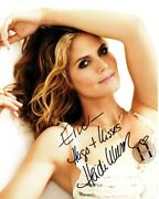 To Eric - Heidi Klum Signed - Autographed Model 8x10 Inch Photo With 3d Sticker
