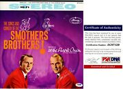 Tom Smothers And Dick Smothers Brothers Signed Lp Record Album Cover - Psa/dna